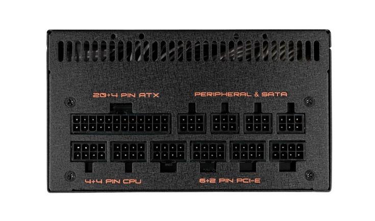 Блок питания Gigabyte Xtreme Gaming XP1200M имеет шесть разъёмов для подключения питания к видеокартам