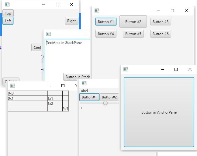 Введение в JavaFx и работа с layout в примерах - 1