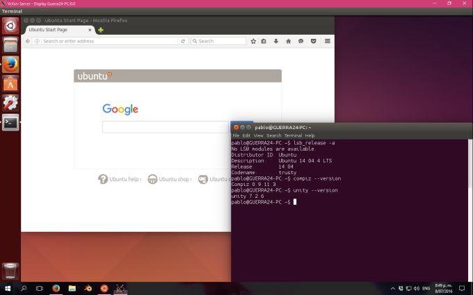 Оболочку рабочего стола Ubuntu Unity запустили в среде Windows 10 - 2