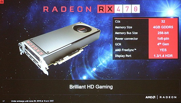 AMD Radeon RX 470: характеристики