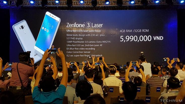Представлены смартфоны Asus Zenfone 3 Laser и Zenfone 3 Max