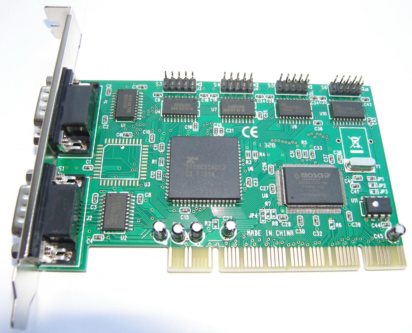 Адаптеры сопряжения RS-422 с поддержкой скоростей до 1Мбод для системной шины PCI - 2