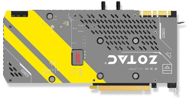 Длина 3D-карты Zotac GeForce GTX 1080 ArcticStorm — 300 мм