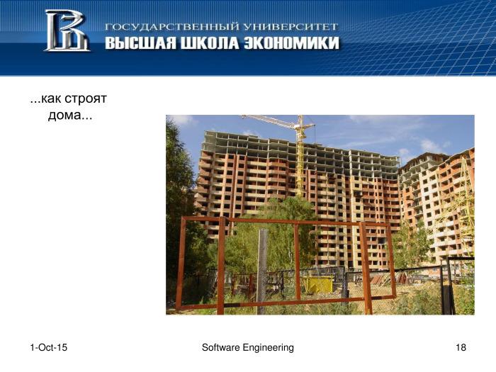 Что такое программная инженерия. Лекция в Яндексе - 17