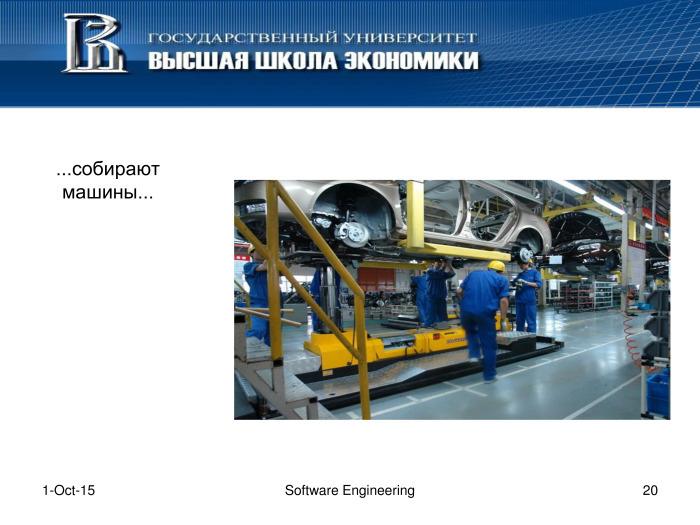 Что такое программная инженерия. Лекция в Яндексе - 19