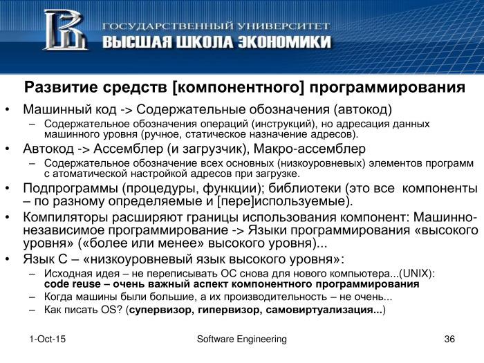 Что такое программная инженерия. Лекция в Яндексе - 35
