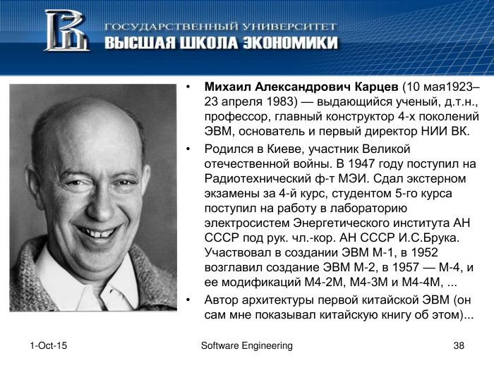 Что такое программная инженерия. Лекция в Яндексе - 37