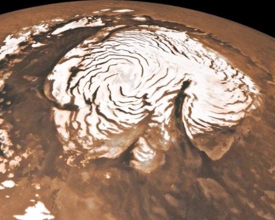 На Марсе находятся ледники