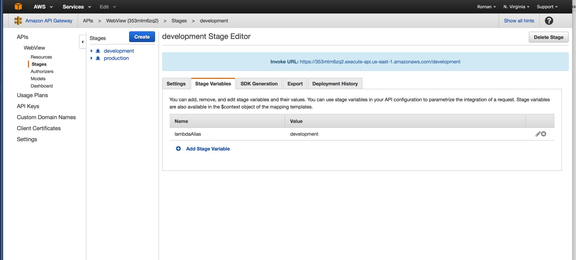 Создание WebView приложения на базе AWS ApiGateway и AWS Lambda - 3