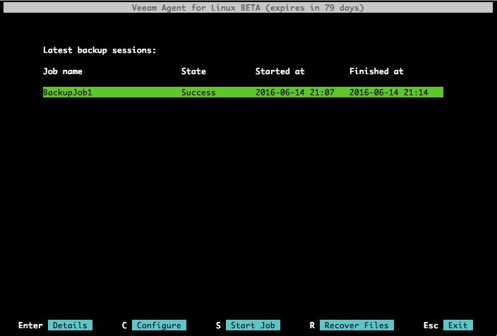 Восстановление из резервной копии с помощью Veeam Agent for Linux - 2