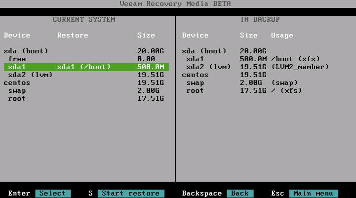 Восстановление из резервной копии с помощью Veeam Agent for Linux - 9