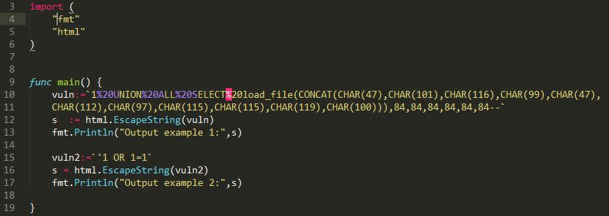 Безопасное использование языка Go в веб-программировании - 10