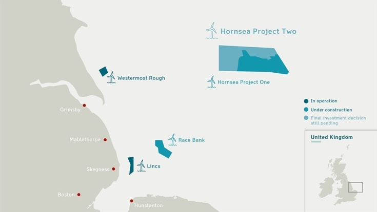 Ветровая ферма Hornsea Project Two обеспечит электричеством почти 2 млн домов