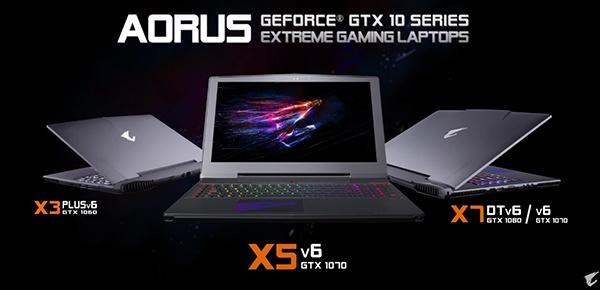 Ноутбуки Gigabyte Aorus перешли на видеокарты Nvidia GeForce GTX 10