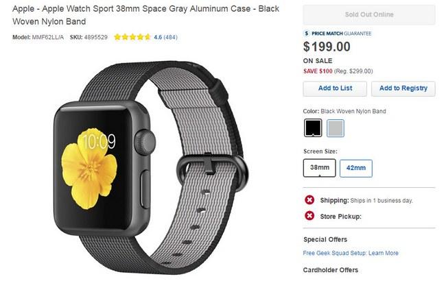 Умные часы Apple Watch Sport подешевели на $100 перед анонсом Apple Watch 2