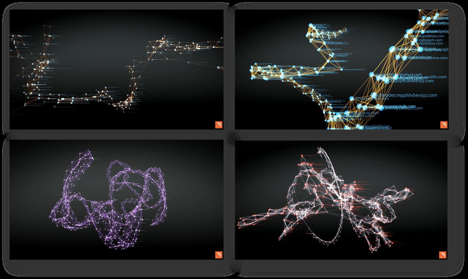 Примеры семантических карт для DGA-сайтов