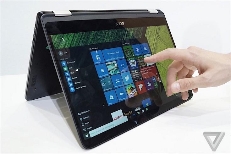 Ноутбук Acer Spin 7 оценили в 1200 долларов