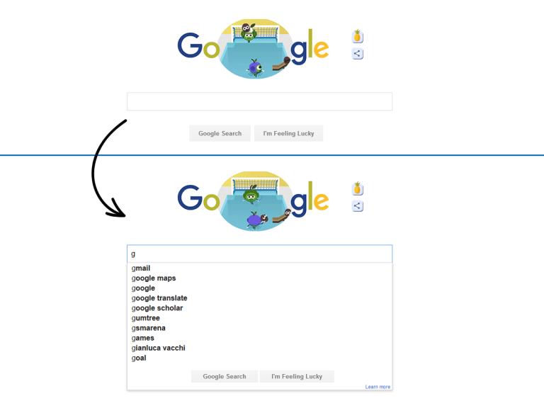 Что случится, если вы начнете вводить поисковый запрос при отключенном Живом поиске