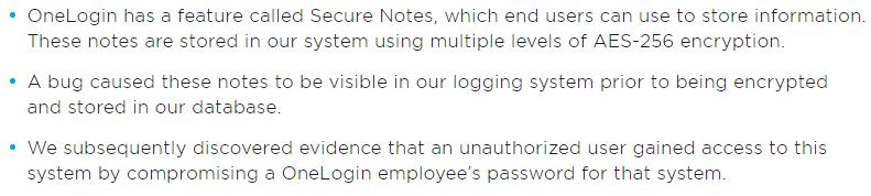 Сервис безопасных заметок OneLogin Secure Notes оказался скомпрометирован - 2