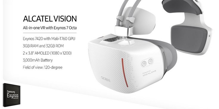 Шлем Alcatel Vision построен на SoC Samsung