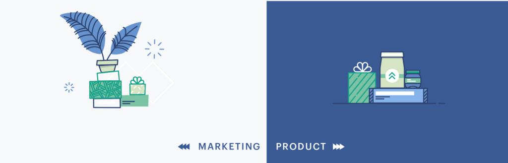 Product vsMarketing Illustration