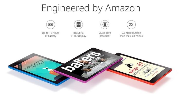 Планшет Amazon Fire HD 8 оценивается всего в 90 долларов