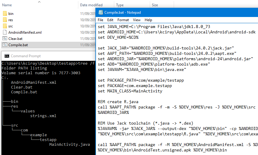 Пишем, собираем и запускаем HelloWorld для Android в блокноте. Java 8 и Android N - 1