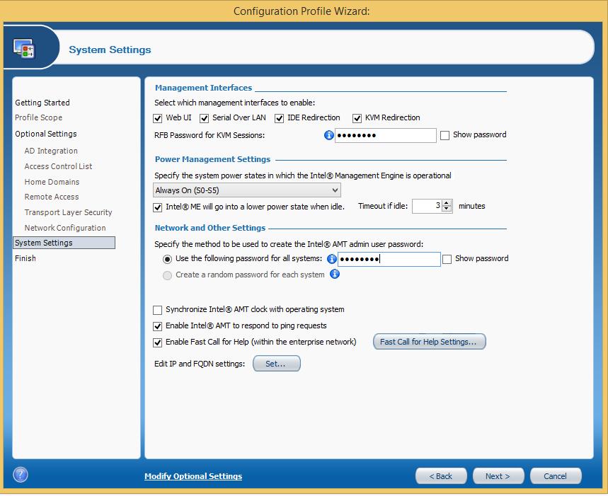 Интеграция настройки Intel AMT в консоль управления - 2