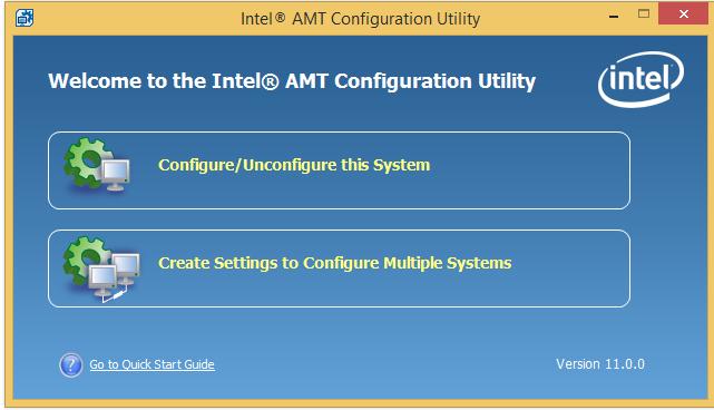 Интеграция настройки Intel AMT в консоль управления - 1