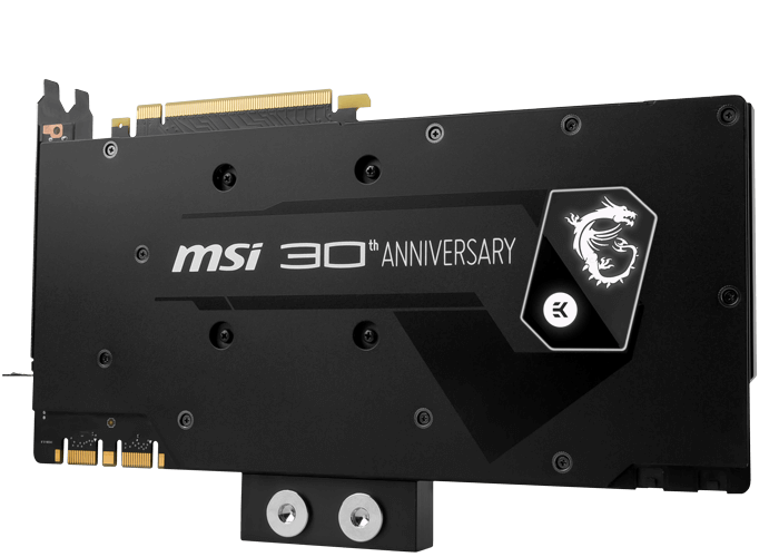 3D-карта MSI GeForce GTX 1080 30th Anniversary Edition оснащена ЖСО