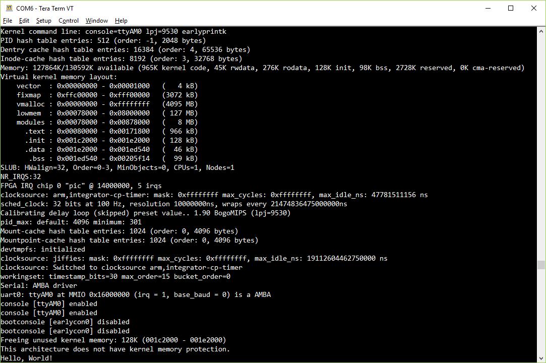 Запускаем Linux на FPGA: Hello, World - 5