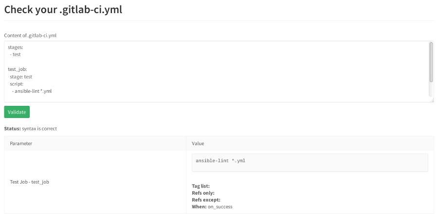 Gitlab-CI и проверка корректности синтаксиса Ansible-lint - 6