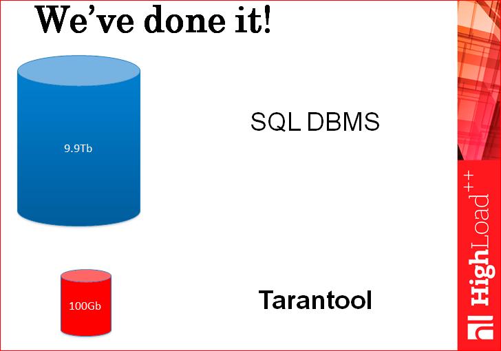 Tarantool: как сэкономить миллион долларов на базе данных на высоконагруженном проекте - 31