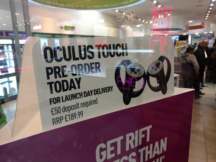 Контроллеры Oculus Touch могут оказаться ещё дороже, чем ожидалось