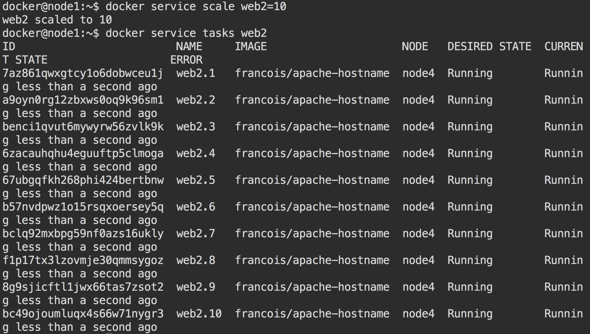 Кластер Docker Swarm за 30 секунд - 13