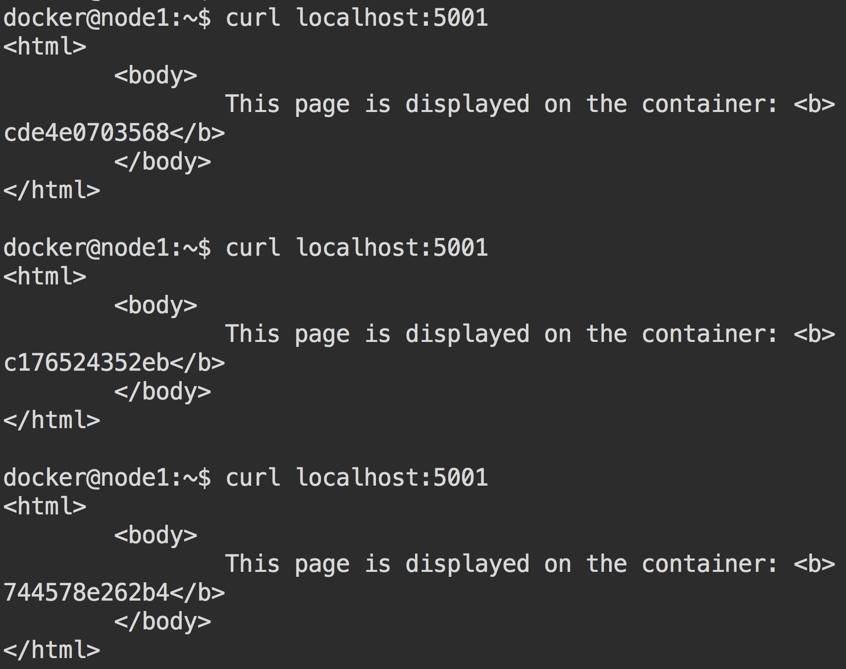 Кластер Docker Swarm за 30 секунд - 5