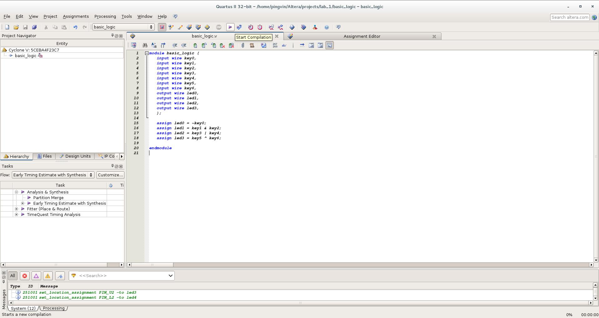 Первый проект на FPGA Altera и подключение USB-Blaster в Linux - 16