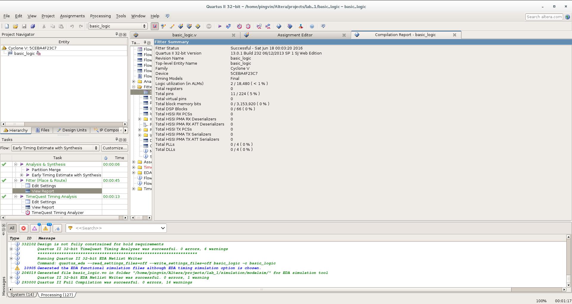 Первый проект на FPGA Altera и подключение USB-Blaster в Linux - 19