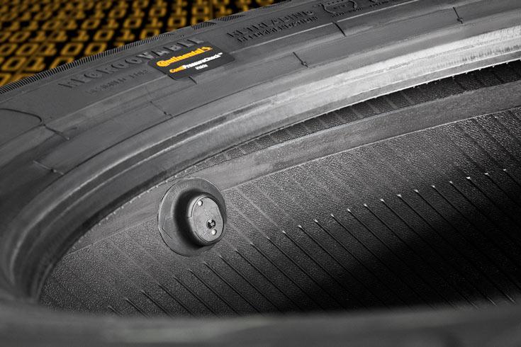 Датчики ContiPressureCheck постоянно контролируют давление и температуру в шинах