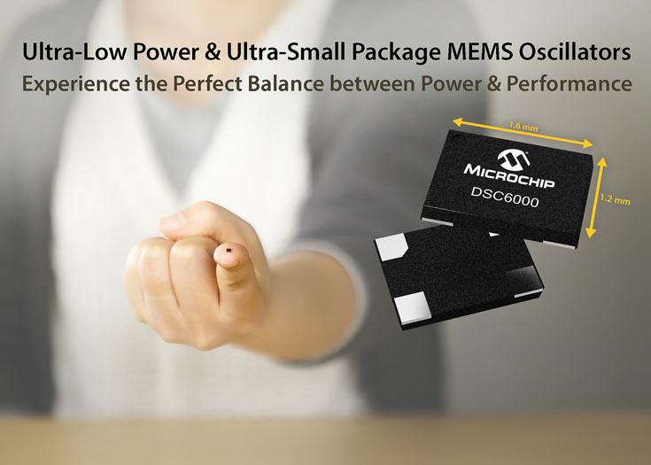 Генераторы Microchip DSC6000 имеют минимальное энергопотребление