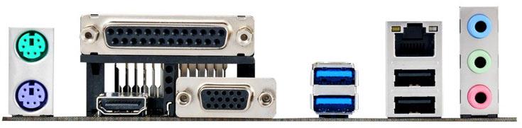 Системная плата Asus J3455M-E оснащена тремя слотами расширения