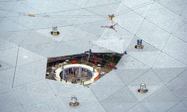Запущен 500-метровый радиотелескоп FAST