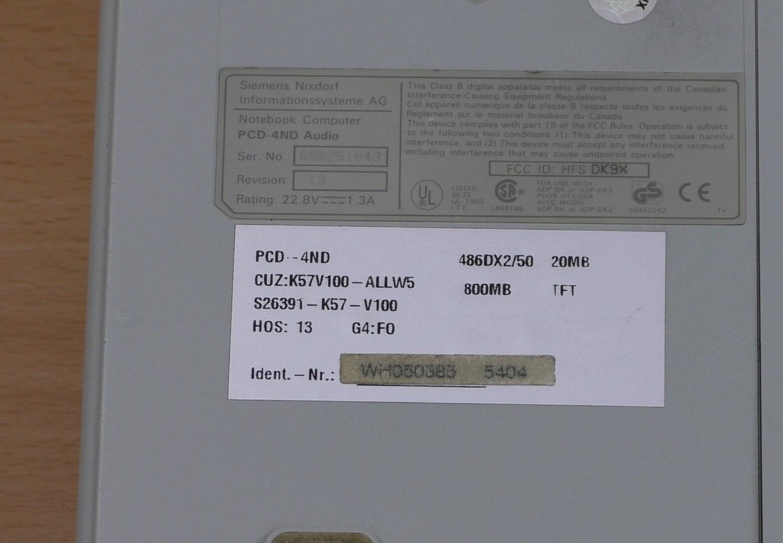 Мощь 80486 на Siemens Nixdorf PCD-4ND (текст и видео — на выбор) - 6