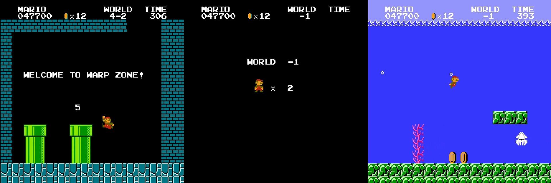 Как работает баг с миром −1 в Super Mario Bros - 7
