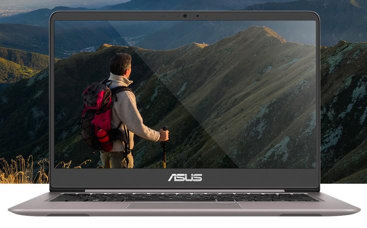 Ноутбук Asus Zenbook UX410 выделяется тонкими рамками вокруг дисплея