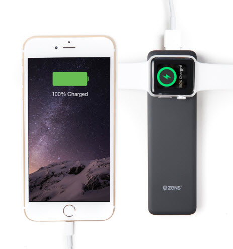 Zens выпустила портативный аккумулятор для одновременной зарядки iPhone и Apple Watch