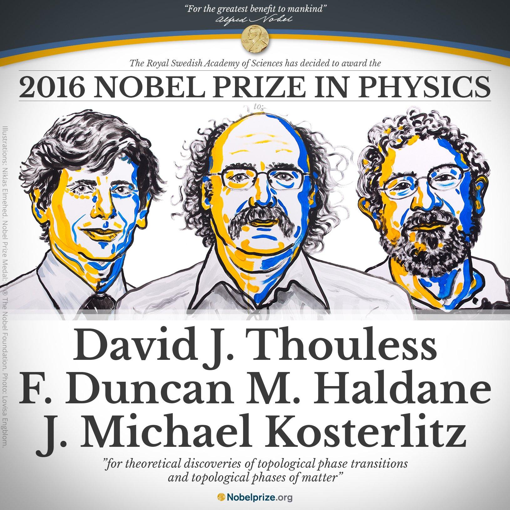Объявлены лауреаты Нобелевской премии по физике - 1