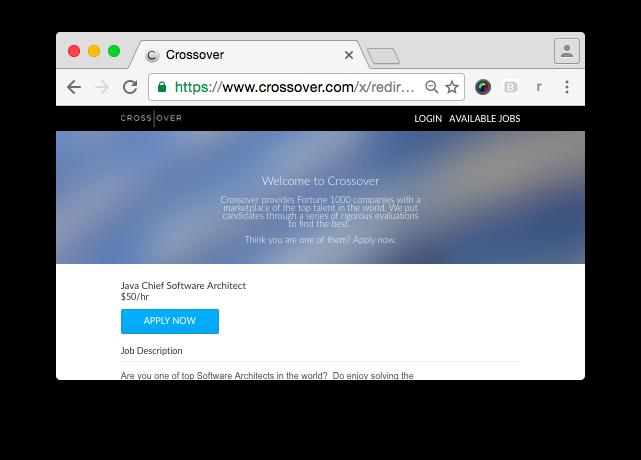 Crossover: высокооплачиваемая дистанционная фуллтайм работа для ИТ-профессионалов - 2