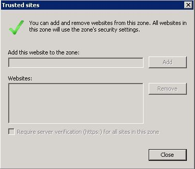 Site to Zone Assignment list и Internet Explorer с включенной Enhanced Security Configuration - 2