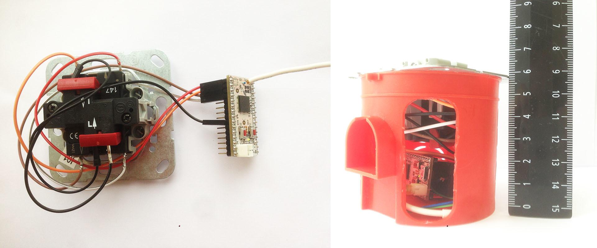 Выключатель Gira + Z-Wave. 4-кнопочный радио выключатель на базе Z-Uno - 5